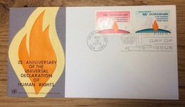 United Nations 1973 New York FDC Human Rights - New York - Hoofdkwartier Van De VN