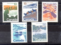 Serie De Canadá N ºYvert 471b/75b ** Valor Catálogo 5.5€ - 1952-.... Règne D'Elizabeth II