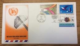 United Nations 1974 New York FDC Air Mail - New York - Hoofdkwartier Van De VN