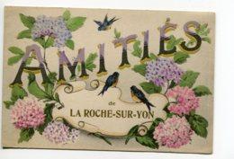 """85 LA ROCHE Sur YON """" Amités De .. """" Petit Oiseau Fleurs  écrite En 1918     - D01 2019 - La Roche Sur Yon"""