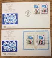 United Nations 1975 New York FDC 30e Anniversary - New York - Hoofdkwartier Van De VN