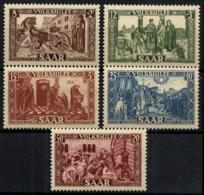 Sarre Nº 278/82 En Nuevo - 1947-56 Ocupación Aliada