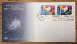 United Nations 1975 New York FDC Outer Space - New York - Hoofdkwartier Van De VN
