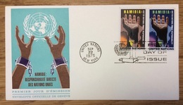 United Nations 1975 New York FDC Namibie - New York - Hoofdkwartier Van De VN