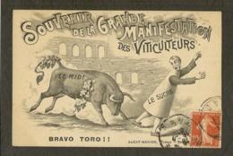 CP-NIMES-GARD - Souvenir De La Grande Manifestation Des Viticulteurs - Nîmes