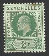 Seychelles, 3 C, 1903, Scott # 39, MH. - Seychelles (...-1976)