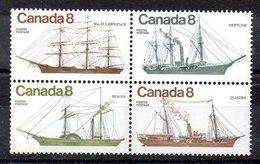 Serie De Candá N ºYvert 580/83 ** Valor Catálogo 5.0€ (SHIPS) - 1952-.... Règne D'Elizabeth II