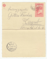 K.u.k. Bosnia, Postal Stationery Letter Card Travelled 1910 Sarajevo To Zagreb B190201 - Bosnien-Herzegowina