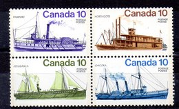 Serie De Canadá N ºYvert 618/21 ** Valor Catálogo 3.0€ (SHIPS) - 1952-.... Règne D'Elizabeth II