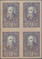 Slowenien: 1920, 2d Lilac/flesh, 6d Olive/flesh And 10d Red-brown/grey, Imperf, White Ungummed Paper - Slowenien
