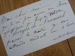Georges De Dramard Cdv - Autographes