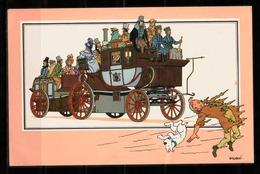 "TINTIN / Chromo ""Voir Et Savoir"" Par Hergé : Automobile N° 15 - Edition DARGAUD - Other"