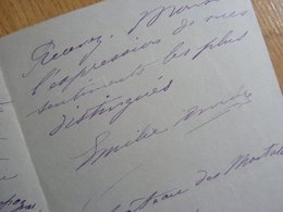 Emile AMBRE (1849-1898) Cantarice SOPRANO Art Lyrique. Peinte Par Manet En CARMEN. Opera. AUTOGRAPHE - Autógrafos