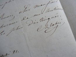 Claire DOBRE (1818-1???) Artiste Lyrique SOPRANO. Opera PARIS. Autographe - Autographes