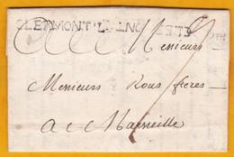 1771 - Marque Postale CLERMONT L, Hérault Sur LAC De 2 Pages De Clermont Lodève Vers Marseille - Règne Louis XVI - Marcophilie (Lettres)