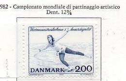 """PIA - DANIMARCA -1982 : 350° Anniversario Delle Dogane - Battello """"Argus""""   - (Yv 750) - Pattinaggio Artistico"""