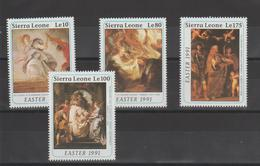 Rubens  Sierra Leone 1991 Série 1306-9 4 Val ** MNH - Rubens