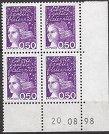 FRANCE 1998 CD 3088 COIN DATE 20 08 98  MARIANNE DU 14 JUILLET - Coins Datés