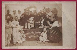 Cp Photo - Quand La Tête Tombera 100 Succomberont - Humour Décapitation - Guillotine - Hommes Avec Pipe - Hache - Prêtre - Militaria