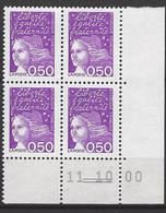 FRANCE 2000 CD 3088 COIN DATE 11 10 00  MARIANNE DU 14 JUILLET - Coins Datés