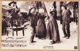 X63076 Ethnic Auvergnat LA BOURREIO D'AUBERGNO Bourrée D'Auvergne VIS-à-VIS RODEZ 11-10-1928 MTIL Trèfle N°6262 - Non Classés