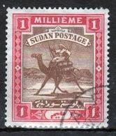 Sudan 1902 Single 1 Millieme Stamp Showing Arab Postman On Camel. - Sudan (...-1951)