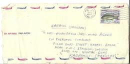 Kuwait Airmail 1997 Sobaity Seabream (Sparidentex Hasta) Postal History Cover Sent To Pakistan. - Kuwait