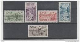 DSP326/ Saar, Hochwasser 1948, Mi.Nr. 255-59 ** - 1947-56 Protectorate