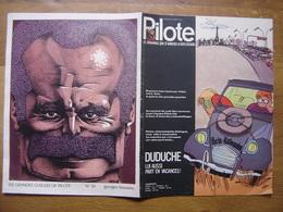 1971 PILOTE 612 Caricature Georges Brassens BD - Pilote