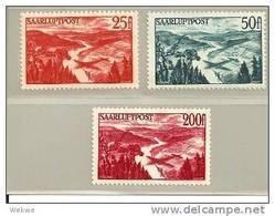 DSP325/ Saar, Flugpost 1948, Mi.Nr. 252-54 ** - 1947-56 Occupation Alliée