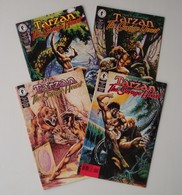 Tarzan - The Savage Heart - #1 2 3 4 - Full Series - Dark Horse Comics - In English - Mike Grell & Chris Schenck - 1999 - Livres, BD, Revues