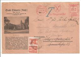 Schwerte Freistempel Bürgemeister 1939.Weiterleitung Nach Italien Mit Italiane SEGNATASSE - Deutschland