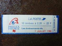 1985 Sabine 2,20F Rouge PHILEXFRANCE 89 Y&T= 2376-C12 Conf.9  (7 Juillet 1789) ** MNH - Carnets