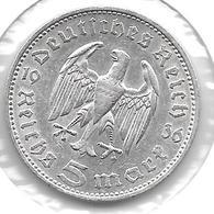 *germany  5 Mark 1936 F  Km 86 Possion A    Vf - [ 4] 1933-1945 : Third Reich