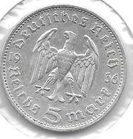 *germany  5 Mark 1936 F  Km 86 Possion B    Vf - [ 4] 1933-1945 : Third Reich