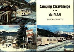 04  BARCELONNETTE   Camping Caravaneige Du PLAN - Barcelonnette