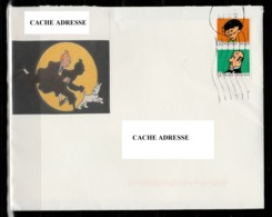 Belgique : Enveloppe Tintin Avec Timbres Tintin. - Belgique