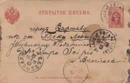 GOOD OLD LATVIA Postcard To POLAND 1901 - Lettonie