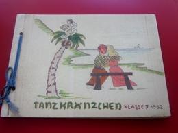 1952-Tanzkränzchen-KLASSE 7-FOTOGRAFIE-NOTIZBUCH-UNSERN HOCHVERSEHTEN FRANZÖSISCHLEHRER HERR MARTI-FOTOGRAFIEBUCH -TEXT - Alben & Sammlungen