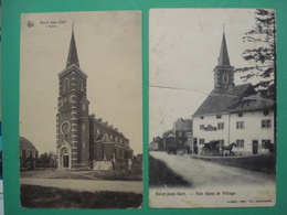 Aubel 2x Saint Jean Sart L'Eglise Kerk Vuue Dans Le Village Buy 1 And 2nd Is For Free. - Aubel