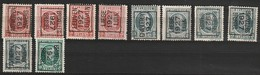 Typo 149-150-153-154-157-160-156-155-162 - Typos 1922-31 (Houyoux)