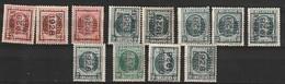 Typo 165-166-170-171A+B-172A+B-173-174-176A+B+178 - Typos 1922-31 (Houyoux)