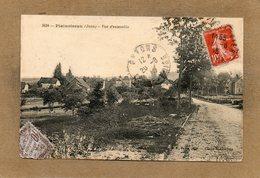 CPA - PLAINOISEAU (39) - Aspect De L'entrée Du Bourg En 1918 - Other Municipalities