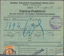 Deutsches Reich - Privatpost (Stadtpost): BERLIN - Paketfahrt: 1914, 20 Pf Orange Auf Seltenem Expre - Privatpost