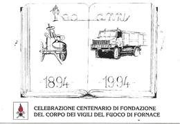 COR26 - MARCOFILIA - ANNULLO FORNACE -CENTENARIO FONDAZIONE VIGILI DEL FUOCO - 4.9.1994 SU CARTOLINA - 6. 1946-.. Republic