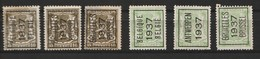 Typo 319-320-321-326-328 - Typos 1936-51 (Petit Sceau)