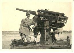 """2376 """" PEZZO D'ARTIGLIERIA CONTRAEREA - ANIMATA -II WW """" FOTO ORIGINALE - War, Military"""