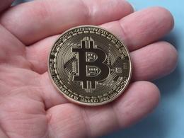 Bitcoin Gold Plated Coin - BCOIN Münze Miner 29 Gr. / 1 Troy Oz - Vergoldet Medaille Sammelmünze ( See Photo ) ! - Monnaies