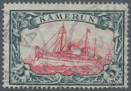 Deutsche Kolonien - Kamerun: 1913, 5 M. Kaiseryacht Im Friedensdruck Mit Wasserzeichen, Sauber Geste - Kolonie: Kamerun