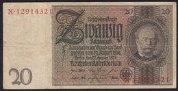 EBN11 - Germany 1929 Banknote 20 Reichsmark Pick #181a X.12914321 - [ 3] 1918-1933: Weimarrepubliek
